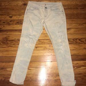 Acid wash look jeans skinny